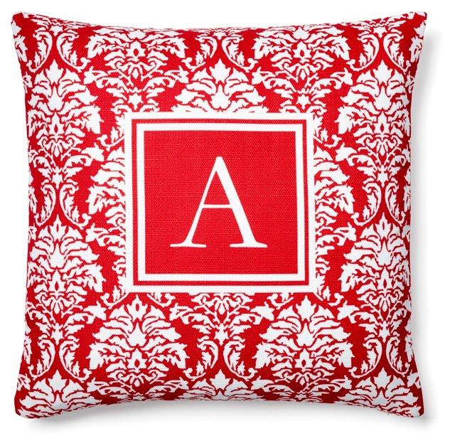 Monogram 20x20 Pillow, Red