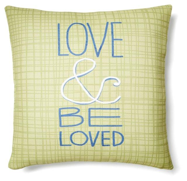 """""""Love"""" Square Pillow, Multi"""