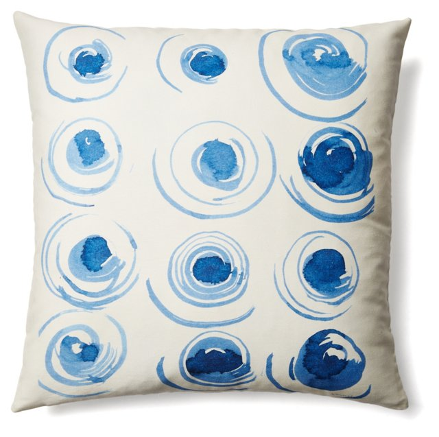 Svetlana 20x20 Cotton Pillow, Blue
