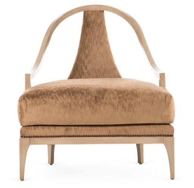 Ava Lounge Chair, Golden