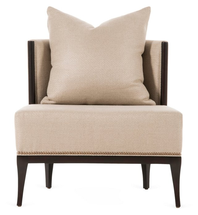 Charles Lounge Chair, Beige