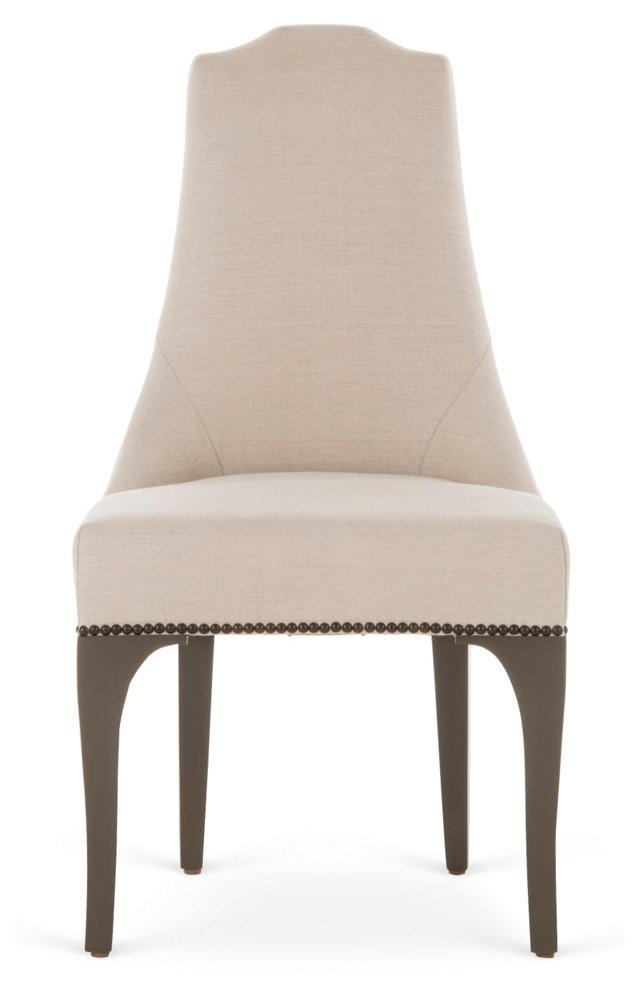 James Side Chair, Parchment/Bronze