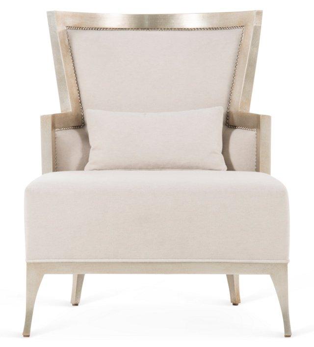 Morgan Lounge Chair, Champagne