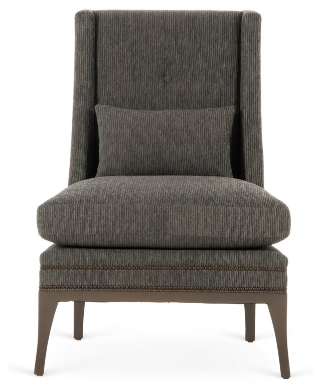 Stanley Lounge Chair, Charcoal