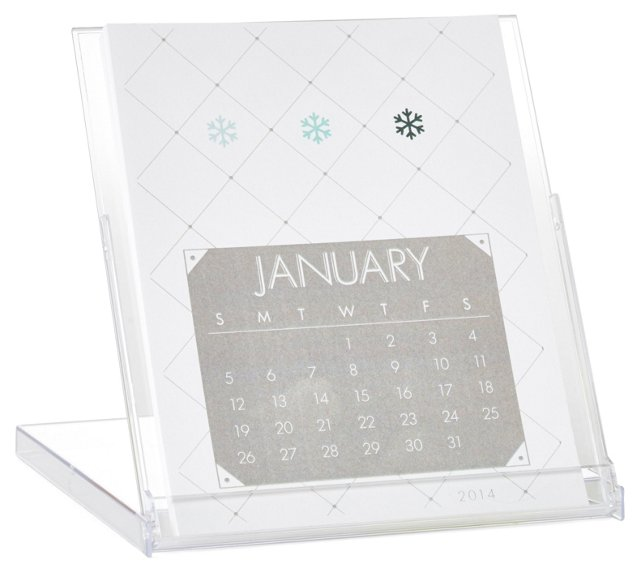 S/2 Patchwork Desktop Calendars