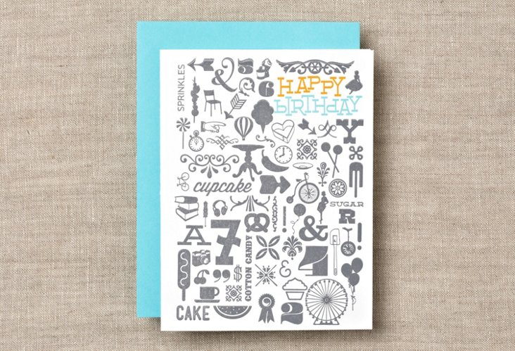 S/12 Birthday Collage Boxed Cards