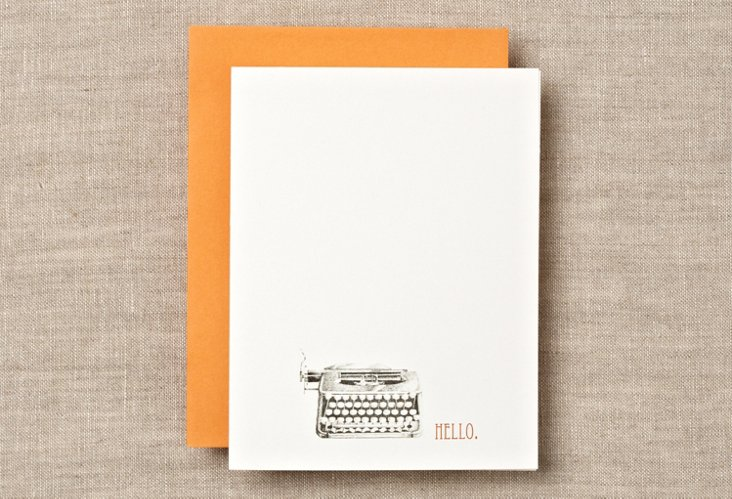 S/12 Vintage Typewriter Boxed Cards