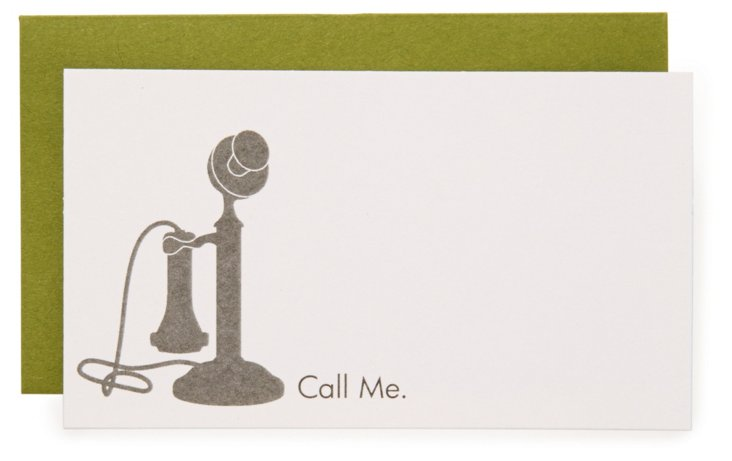 "S/16 ""Call Me"" Enclosure Cards"