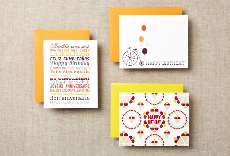 Asst of 12 Happy Birthday Greeting Cards