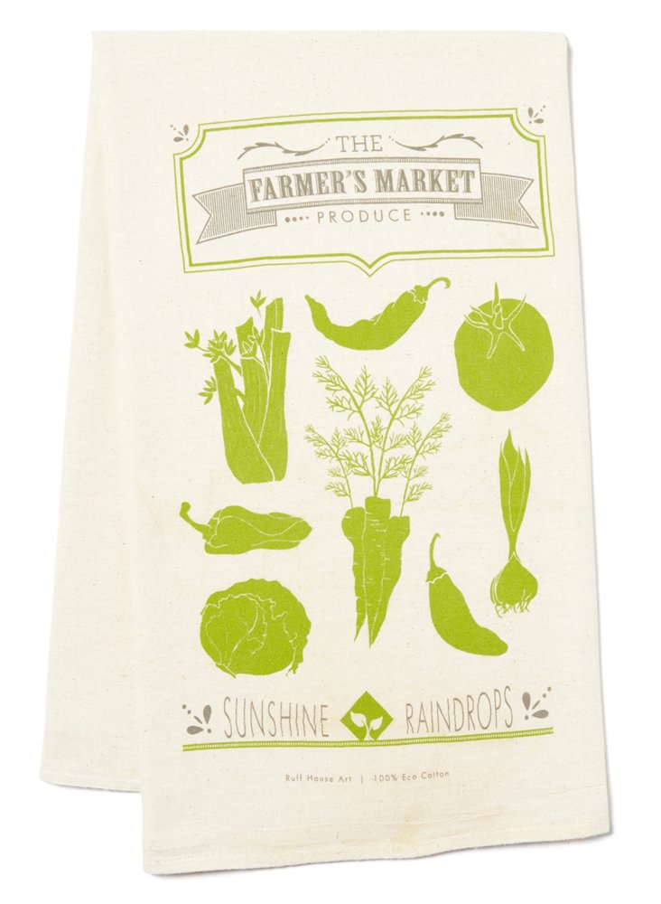 S/2 Farmer's Market Product Tea Towels
