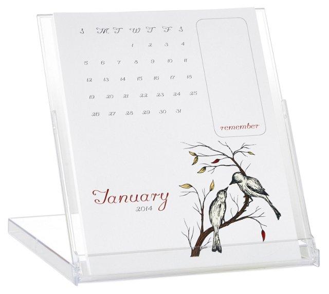 S/2 Illustrated Desktop Calendars