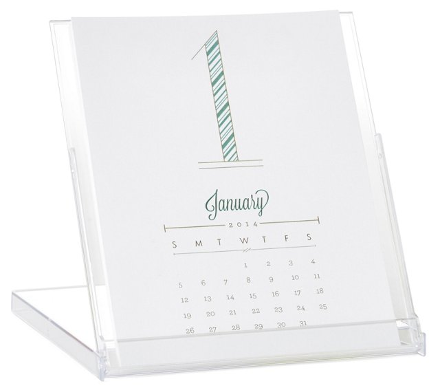 S/2 Pattern Desktop Calendars