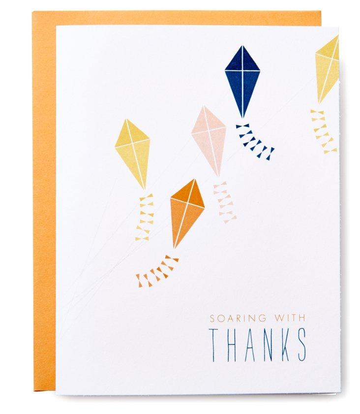S/12 Kite Thanks Greeting Cards