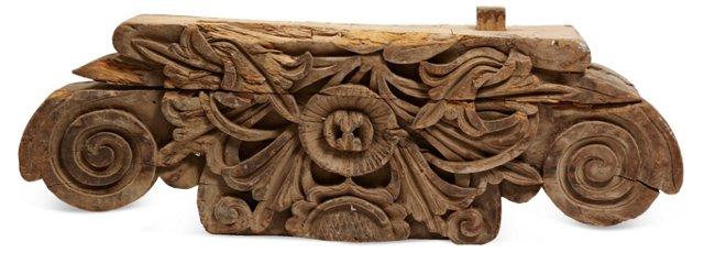 Antique Tibetan Carved Capital