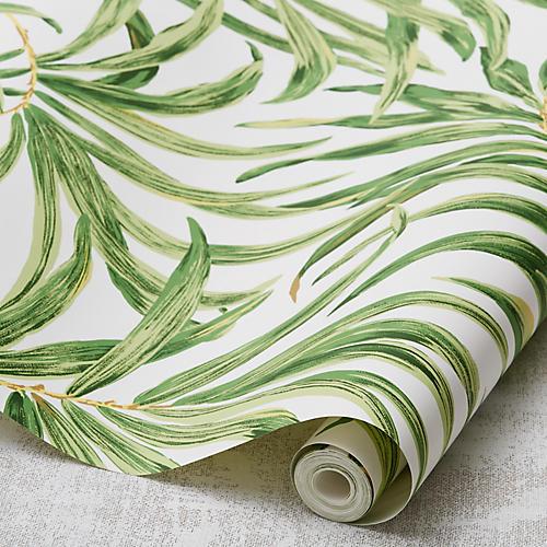 Bali Leaves Wallpaper, Green