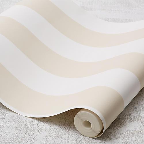 Stripe Wallpaper, Tan