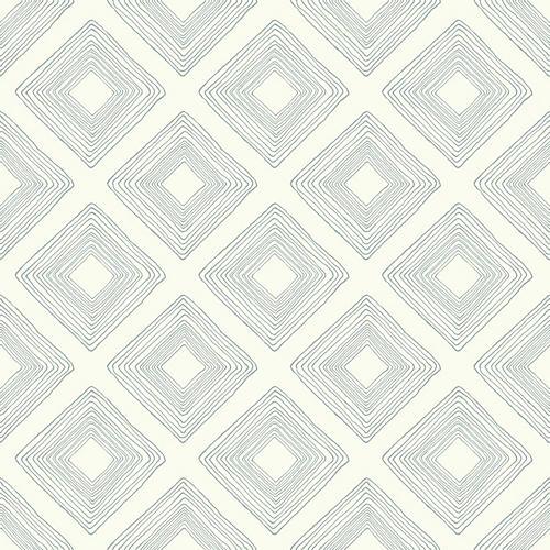Diamond Sketch Wallpaper, Cream/Green