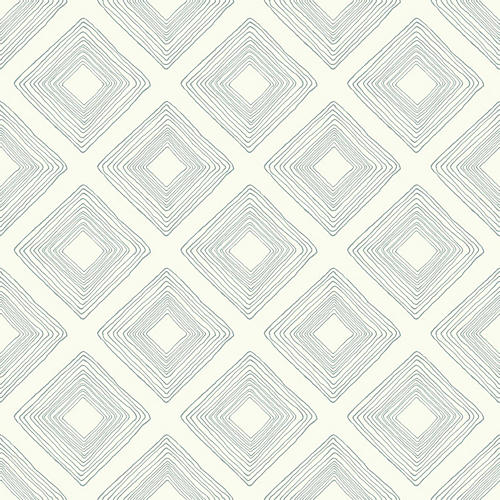 Diamond Sketch Wallpaper, Cream/Green