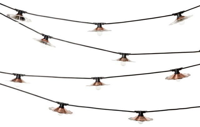 City Outdoor String Lights, Copper