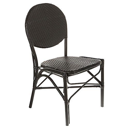Café Outdoor Bistro Side Chair, Black