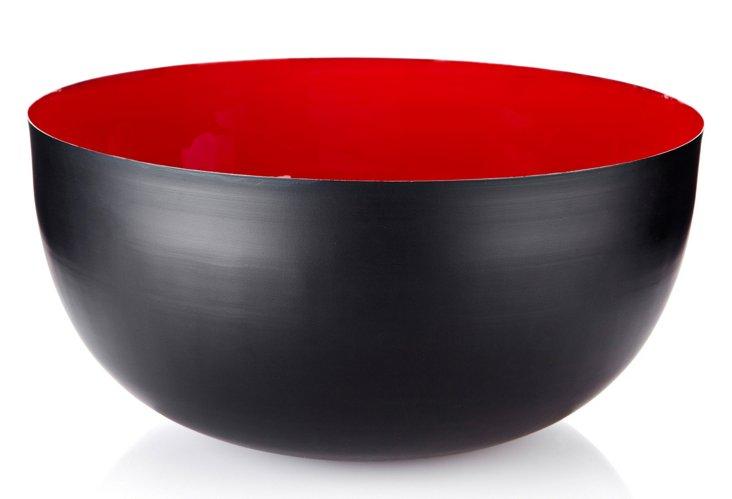 "14"" Black & Red Bowl"