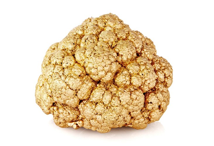 Gilded Cauliflower Objet