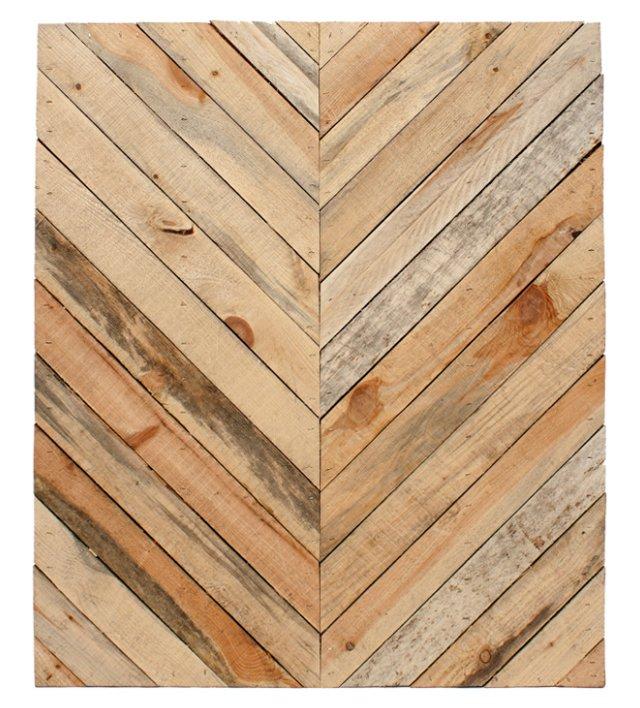 Chevron Wood Wall Panel, Natural