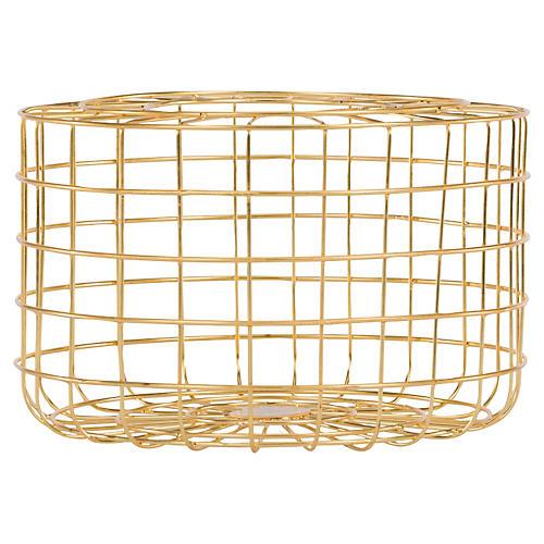 """12"""" Grid Basket, Gold"""