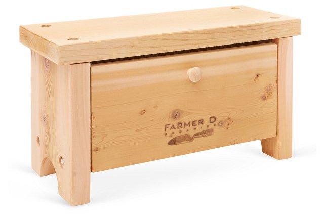 "22"" Garden Seat Toolbox, Natural"