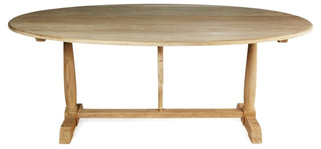 """Blossom 80"""" Dining Table, Natural"""