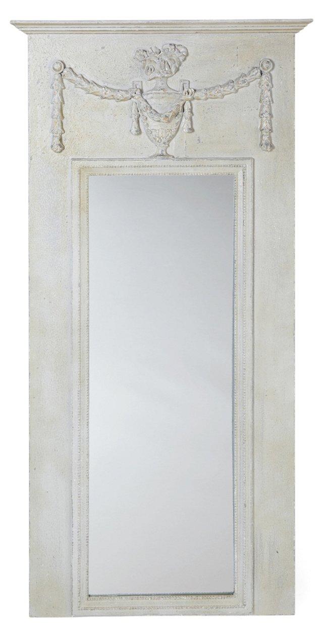 Sloane Floor Mirror, Off-White