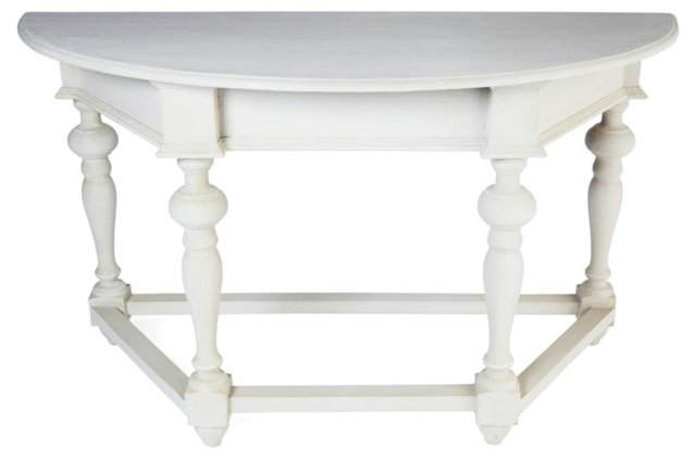 Clementine Console, Distressed White