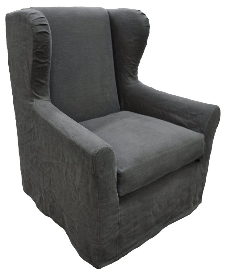 Neno Club Chair, Charcoal