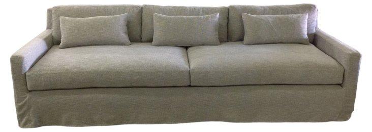 """Kelsey 108"""" Sofa, Pewter"""