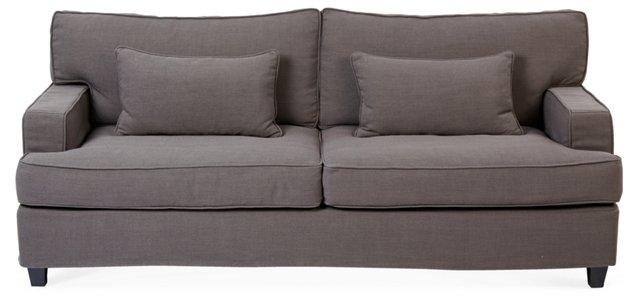 "Fifth Avenue 84"" Sofa, Charcoal"