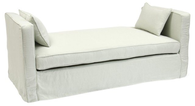 Reed Linen Daybed, Breeze Blue