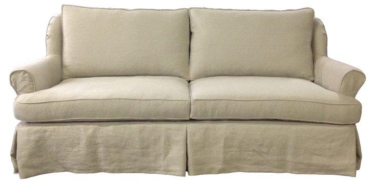 """Bel Air 84"""" Linen Sofa, Oatmeal"""