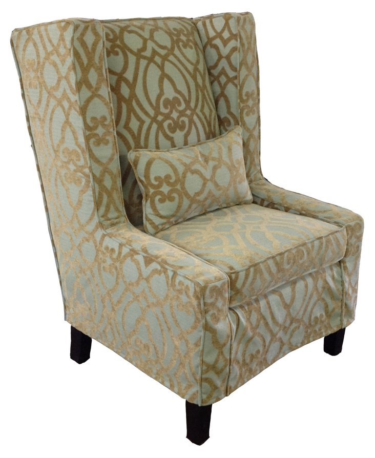 Liana Wingback Chair, Pawley/Moonstone