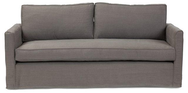 "Tacoma 80"" Linen Sofa, Charcoal"