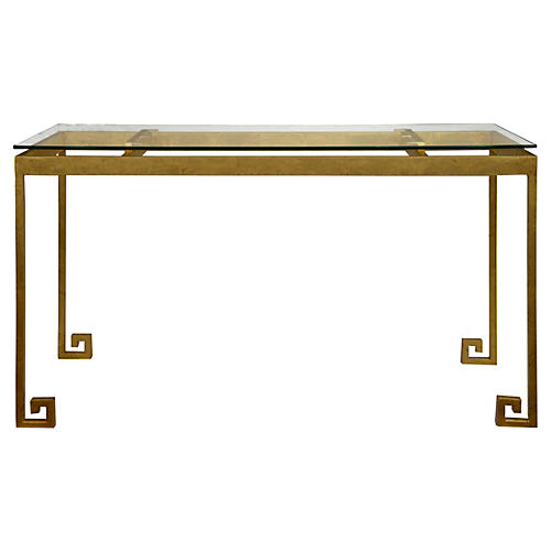 Greco Console Table, Gold