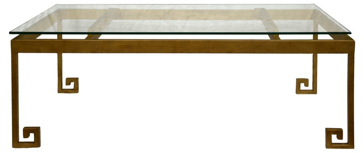 """Greco 48"""" Coffee Table, Gold"""