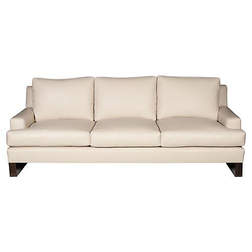 Robin Sofa, Ivory Leather