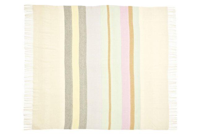 Striped Throw, Pastel Multi