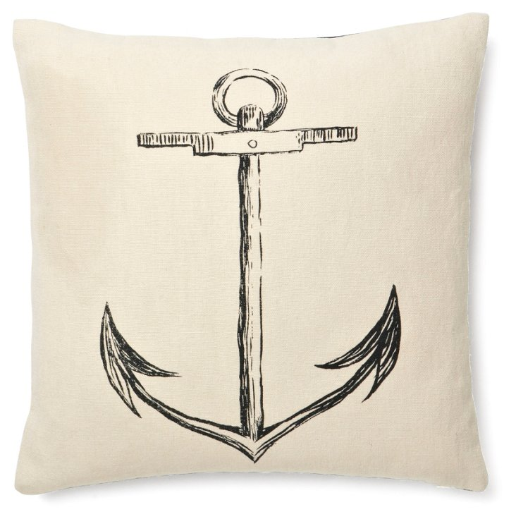 Anchor 17x17 Pillow, Hemp