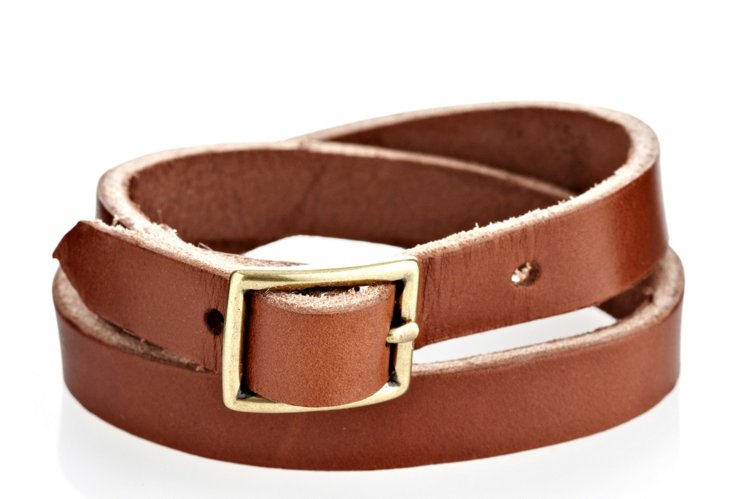 Double Wrap Bracelet, Brown