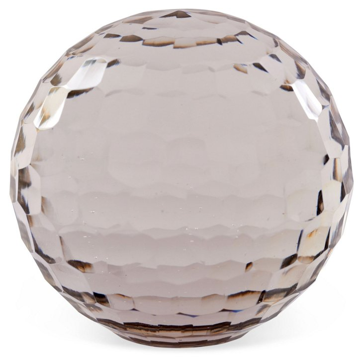 Glass Honeycomb Paperweight, Large