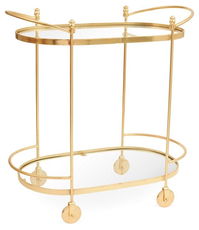 Bethany Bar Cart, Gold