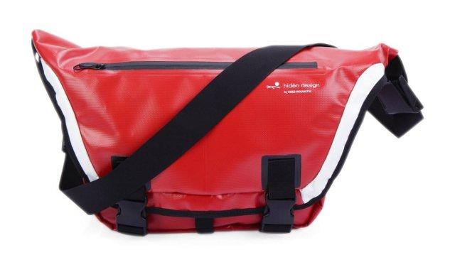 Tarpaulin Messenger Bag, Red
