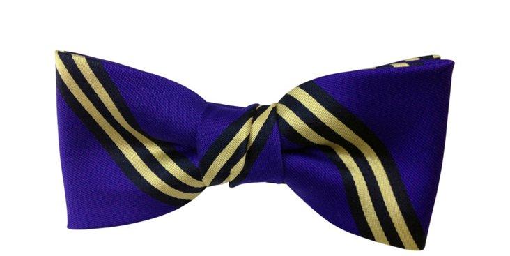 Purple Stripe Bow Tie