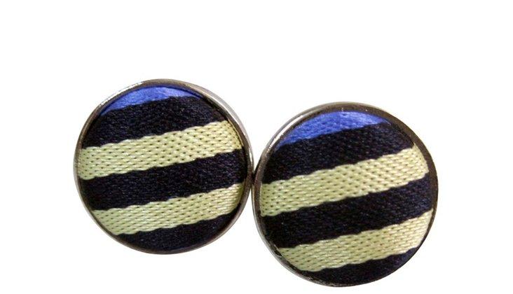 Lavender Stripe Cufflinks